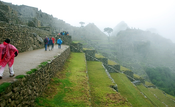 This was the view that greeted us as we rounded a corner and entered the main part of Machu Picchu for the first time.