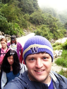 Bright-eyed and bushy-tailed, we started our trek to Machu Picchu at about 5:15 a.m.