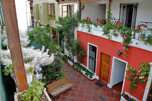 This is the courtyard at Hostal El Patio, our preferred lodging when in Lima.